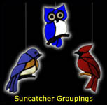 Stained Glass Grouping of Suncatchers