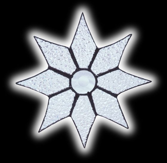 stained glass Sparkle Star suncatcher