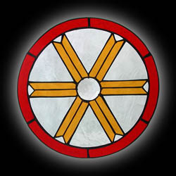 Stained Glass Healing Wheel Window